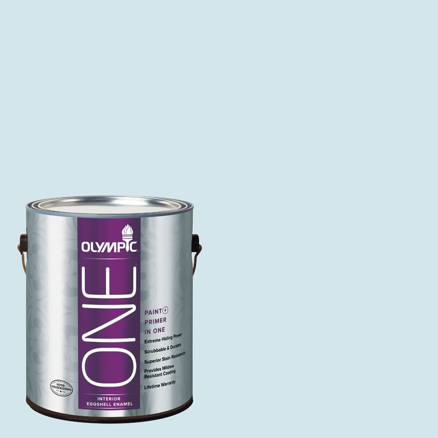 Olympic ONE Ocean Breeze Eggshell Latex Interior Paint and Primer In One (Actual Net Contents: 124-fl oz)