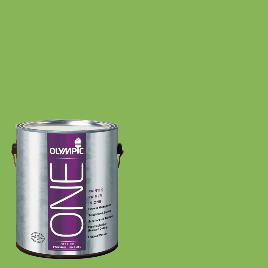 Olympic ONE Green Pear Eggshell Latex Interior Paint and Primer In One (Actual Net Contents: 114-fl oz)