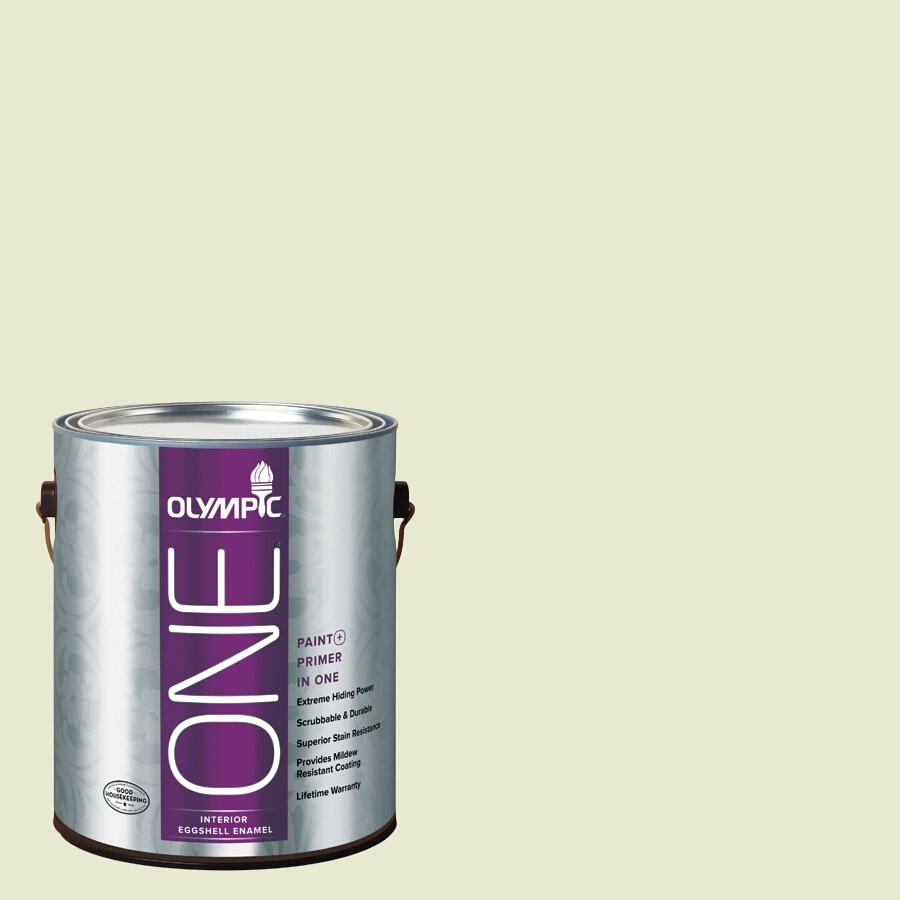 Olympic ONE Soothing Aloe Eggshell Latex Interior Paint and Primer In One (Actual Net Contents: 124-fl oz)