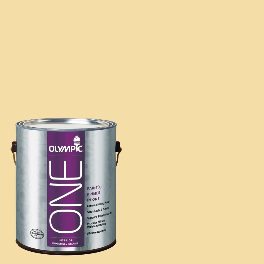 Olympic ONE Butterfly Bush Eggshell Latex Interior Paint and Primer In One (Actual Net Contents: 124-fl oz)
