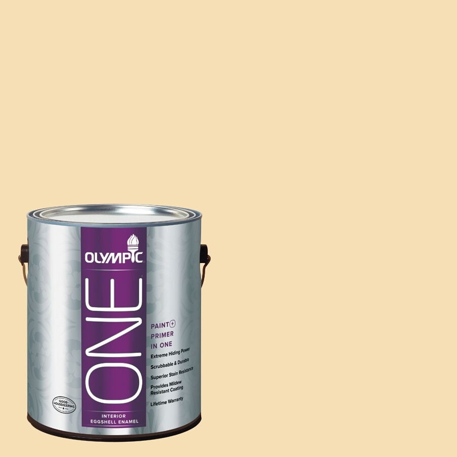 Olympic ONE Cornmeal Eggshell Latex Interior Paint and Primer In One (Actual Net Contents: 124-fl oz)