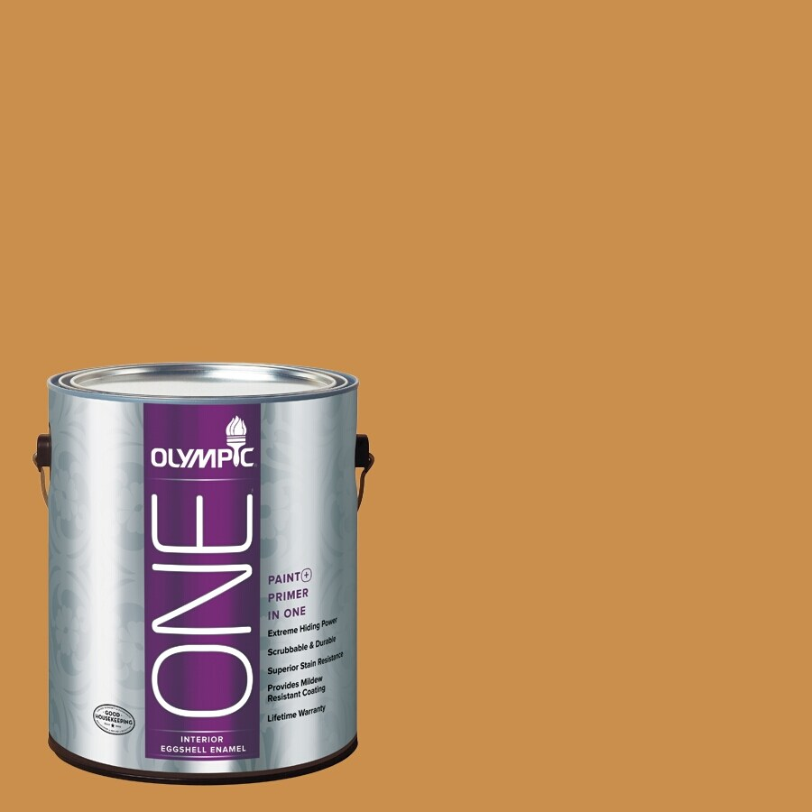 Olympic ONE Allspice Eggshell Latex Interior Paint and Primer In One (Actual Net Contents: 114-fl oz)