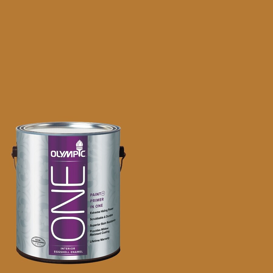 Olympic ONE Yellow/Gold Eggshell Latex Interior Paint and Primer In One (Actual Net Contents: 114-fl oz)