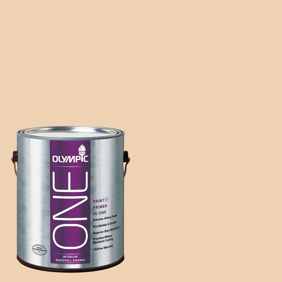 Olympic ONE Apple Crunch Eggshell Latex Interior Paint and Primer In One (Actual Net Contents: 124-fl oz)