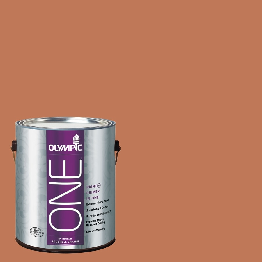 Olympic ONE Brown Clay Eggshell Latex Interior Paint and Primer In One (Actual Net Contents: 114-fl oz)