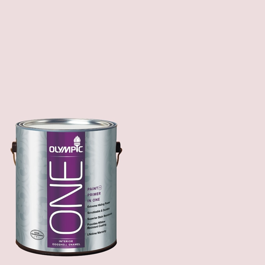 Olympic ONE Ballerina Eggshell Latex Interior Paint and Primer In One (Actual Net Contents: 124-fl oz)