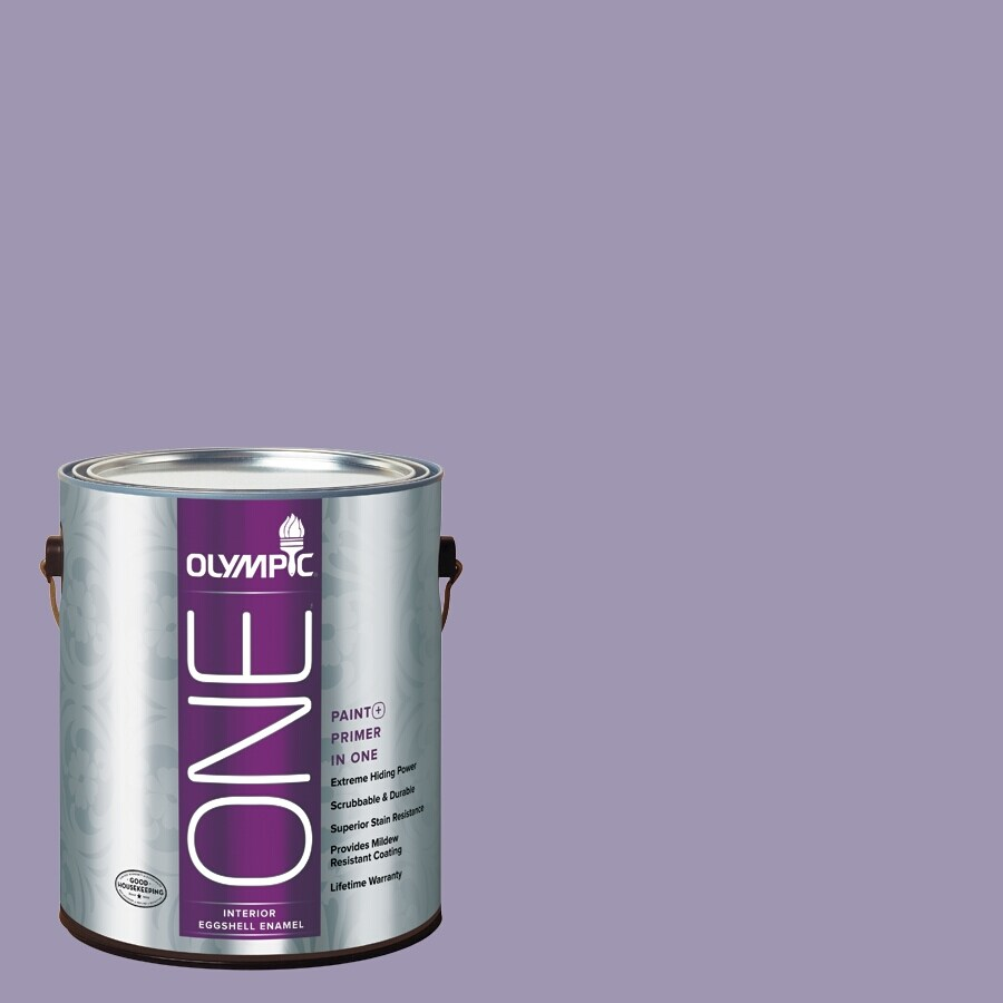 Olympic ONE Mystic Purple Eggshell Latex Interior Paint and Primer In One (Actual Net Contents: 116-fl oz)