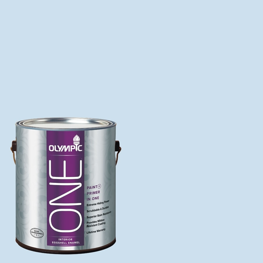 Olympic ONE Cloud Nine Eggshell Latex Interior Paint and Primer In One (Actual Net Contents: 124-fl oz)