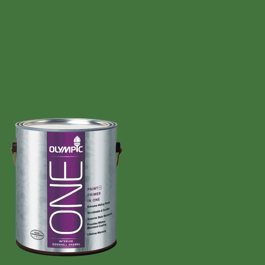 Olympic ONE Bell Pepper Eggshell Latex Interior Paint and Primer In One (Actual Net Contents: 114-fl oz)