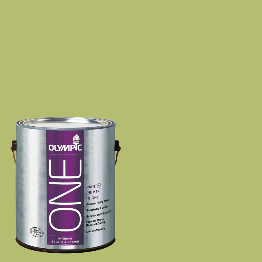 Olympic ONE Lime Green Eggshell Latex Interior Paint and Primer In One (Actual Net Contents: 116-fl oz)