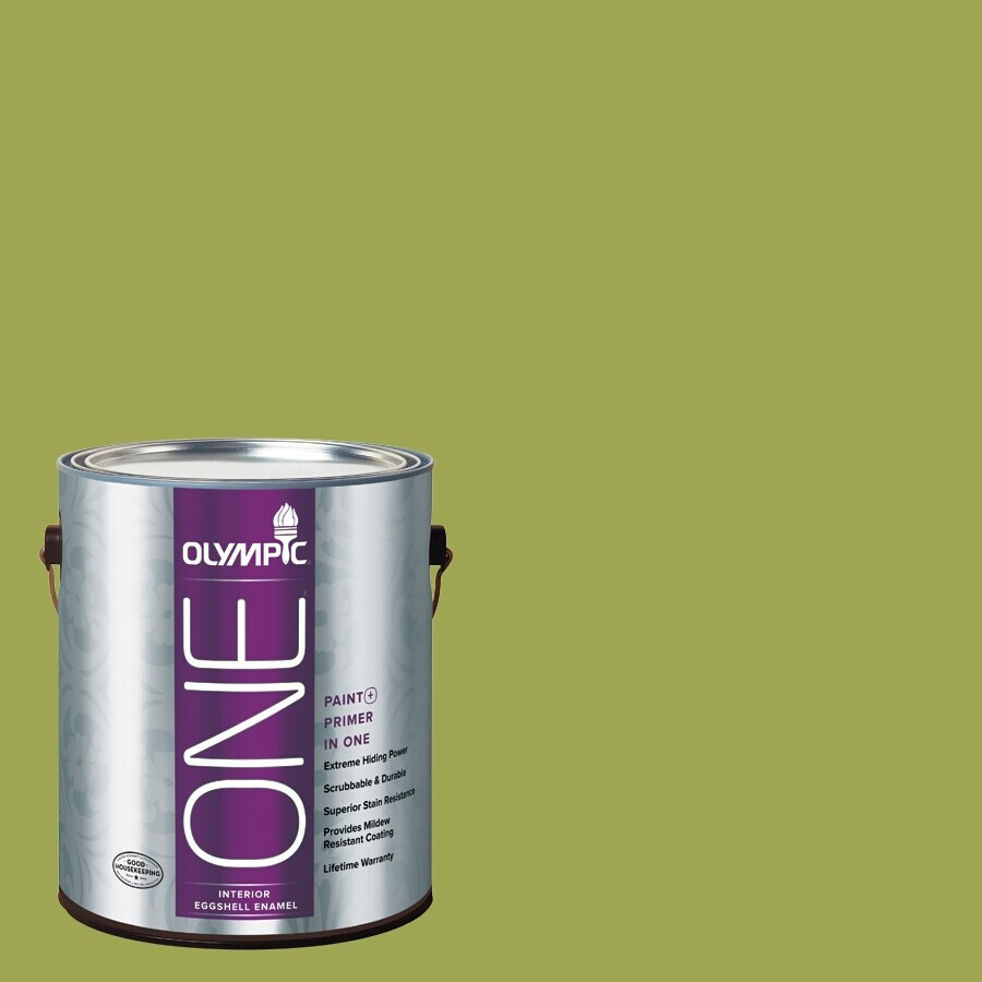 Olympic ONE Asparagus Eggshell Latex Interior Paint and Primer In One (Actual Net Contents: 114-fl oz)