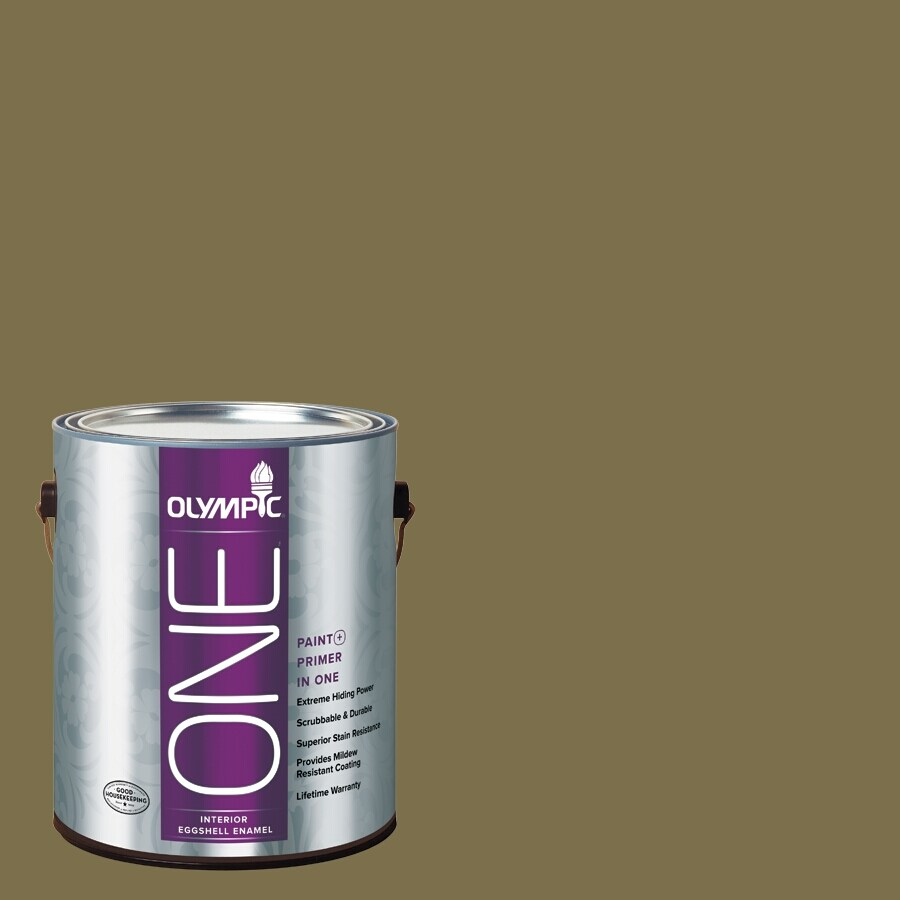 Olympic ONE Green Briar Eggshell Latex Interior Paint and Primer In One (Actual Net Contents: 114-fl oz)