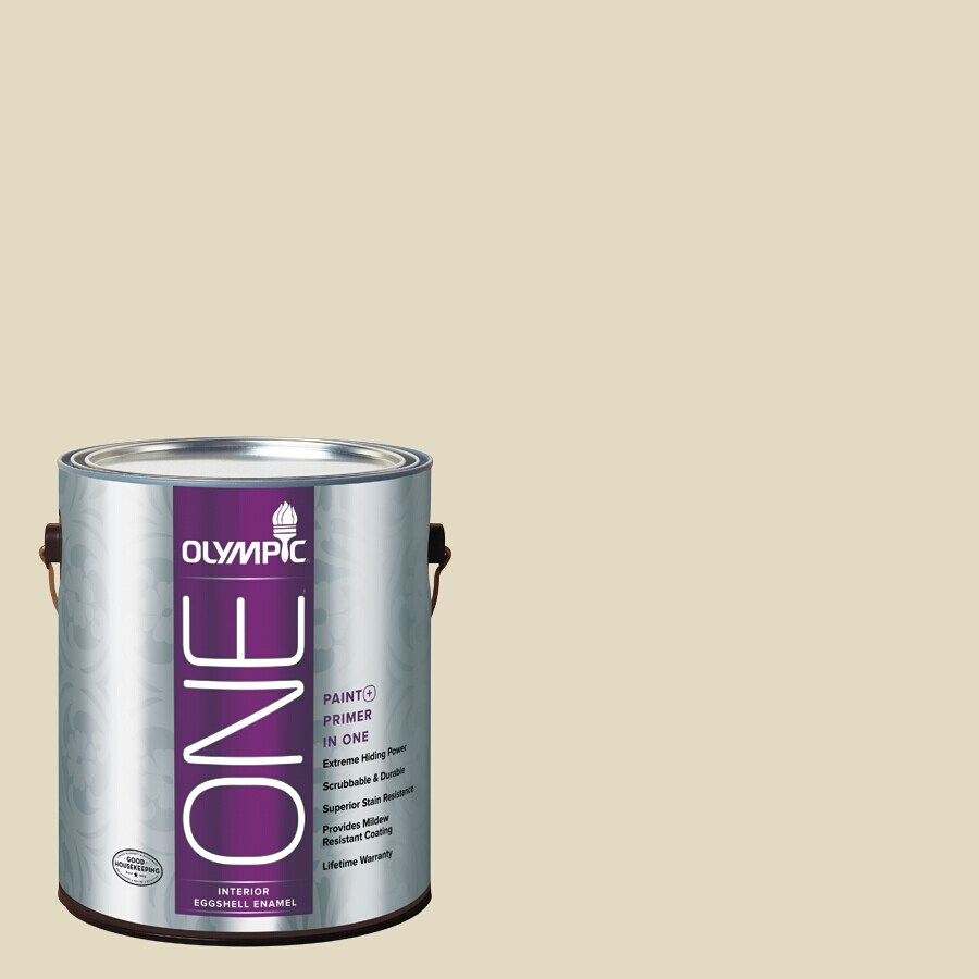 Olympic ONE Bamboo Eggshell Latex Interior Paint and Primer In One (Actual Net Contents: 124-fl oz)