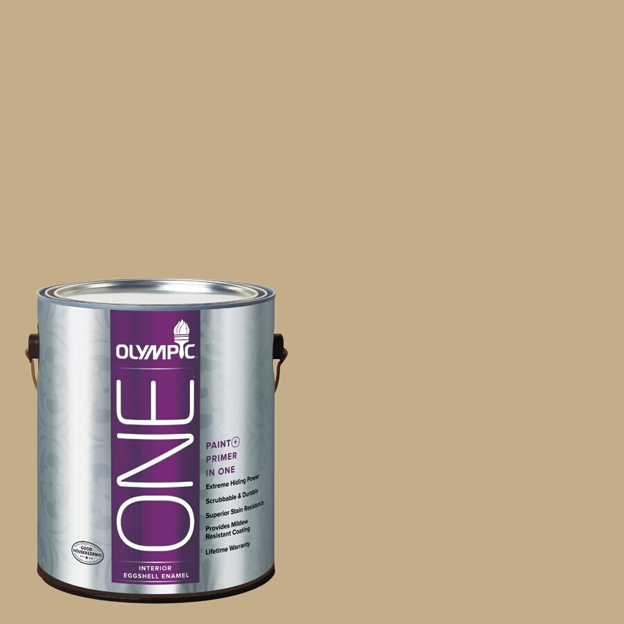 Olympic ONE Earthy Cane Eggshell Latex Interior Paint and Primer In One (Actual Net Contents: 116-fl oz)