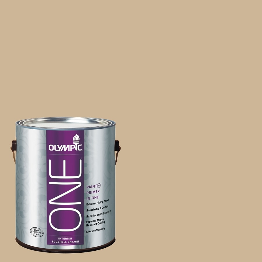 Olympic ONE Spiced Vinegar Eggshell Latex Interior Paint and Primer In One (Actual Net Contents: 124-fl oz)