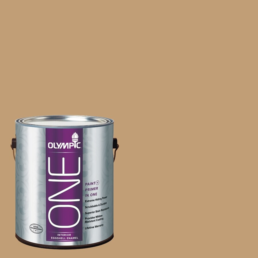 Olympic ONE Applesauce Cake Eggshell Latex Interior Paint and Primer In One (Actual Net Contents: 116-fl oz)
