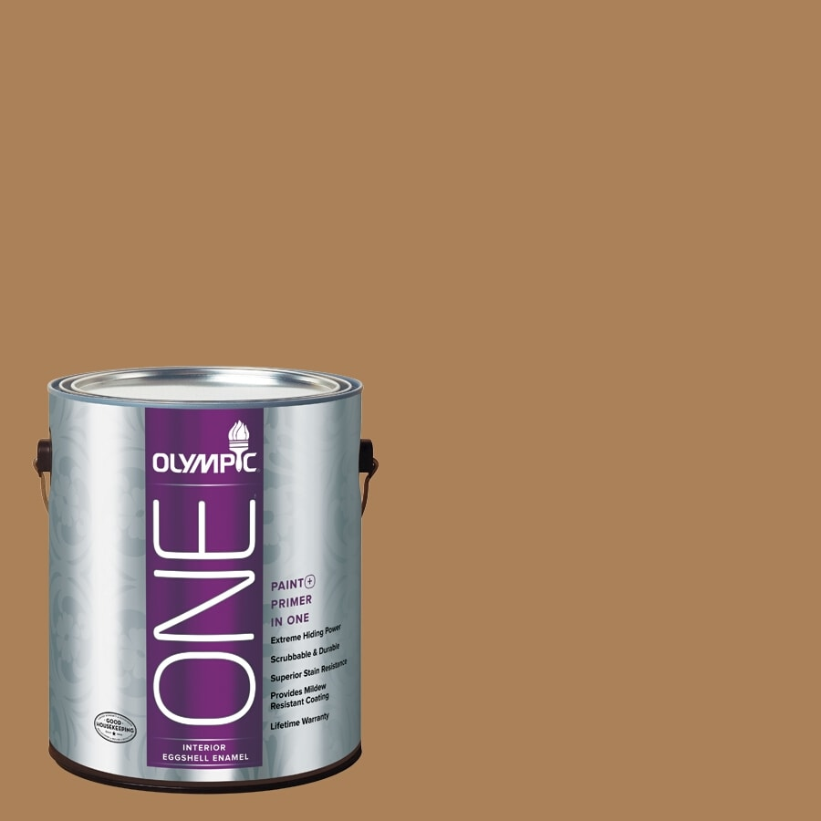 Olympic ONE Bread Basket Eggshell Latex Interior Paint and Primer In One (Actual Net Contents: 114-fl oz)