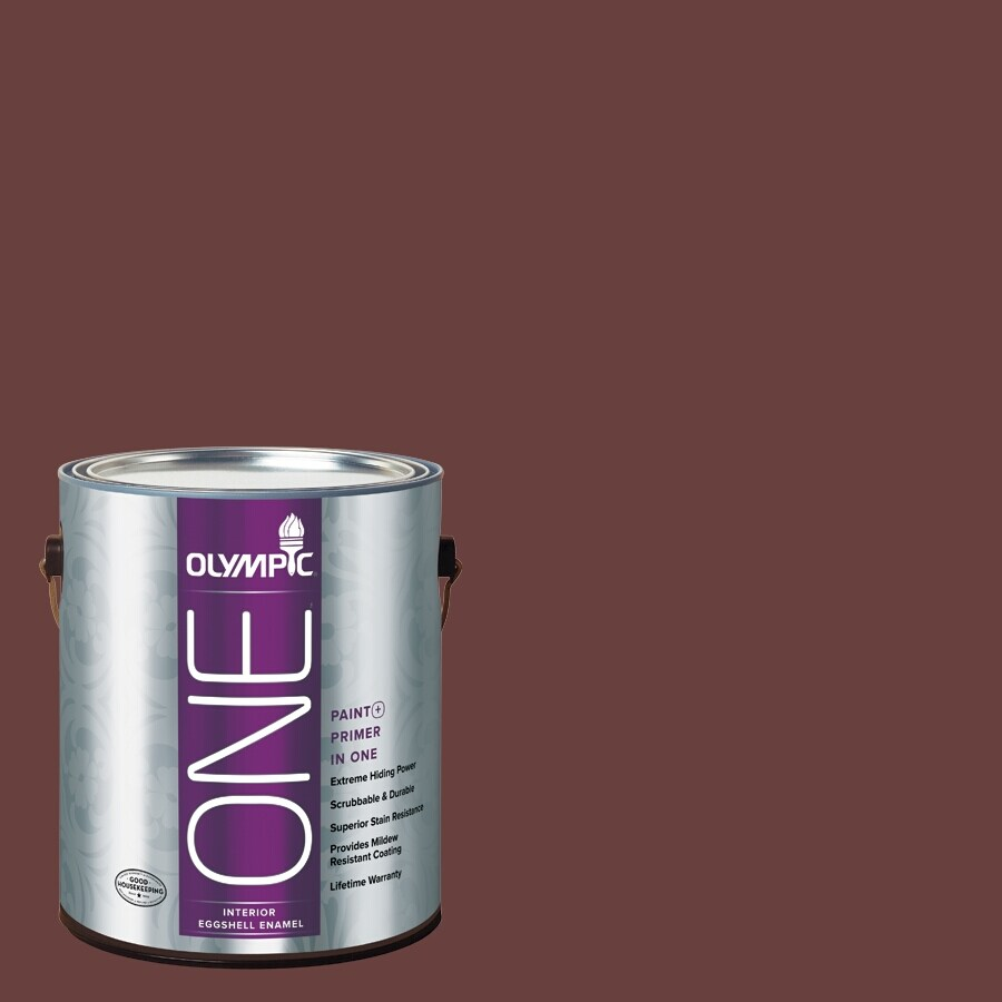 Olympic ONE Burgundy Wine Eggshell Latex Interior Paint and Primer In One (Actual Net Contents: 114-fl oz)
