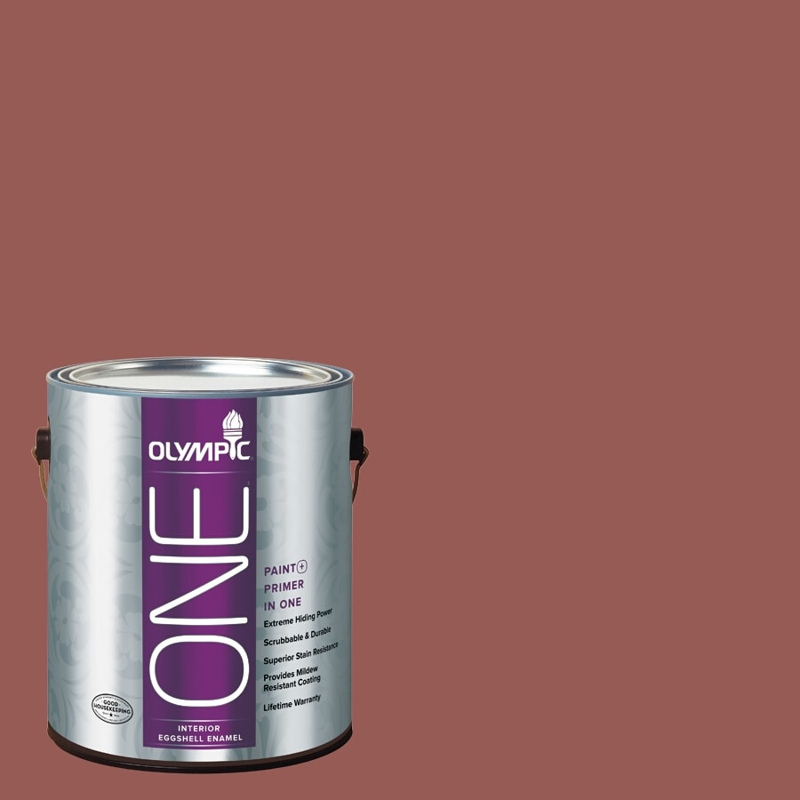 Olympic ONE Fire Weed Eggshell Latex Interior Paint and Primer In One (Actual Net Contents: 114-fl oz)