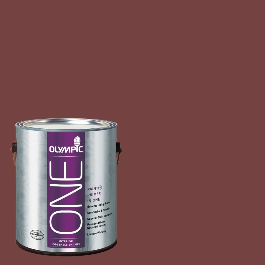 Olympic ONE Bordeaux Eggshell Latex Interior Paint and Primer In One (Actual Net Contents: 114-fl oz)