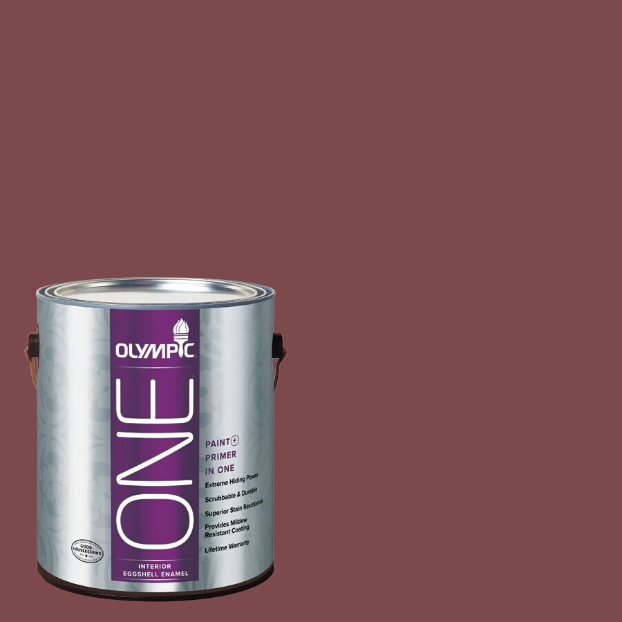 Olympic ONE Sun Dried Tomato Eggshell Latex Interior Paint and Primer In One (Actual Net Contents: 114-fl oz)