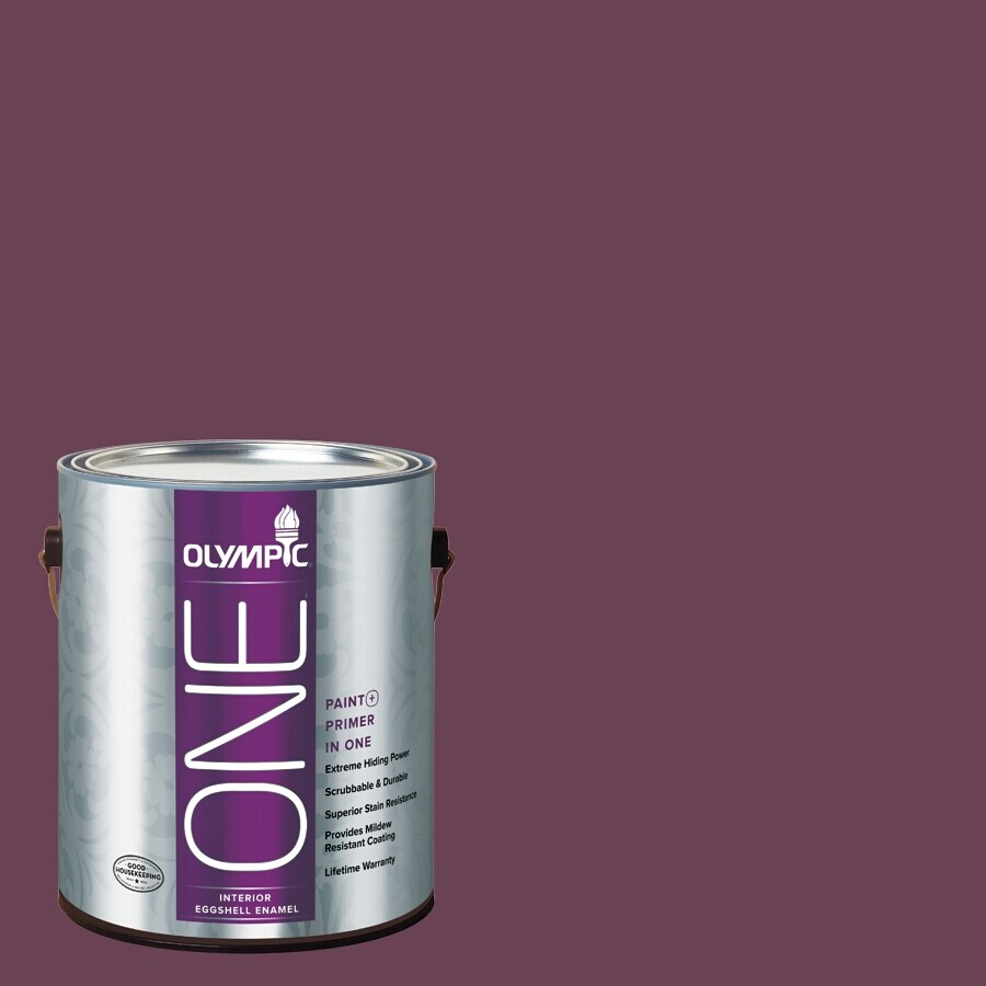 Olympic ONE Chilled Wine Eggshell Latex Interior Paint and Primer In One (Actual Net Contents: 114-fl oz)
