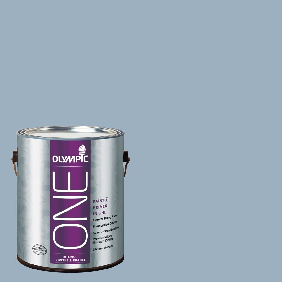 Olympic ONE Sterling Silver Eggshell Latex Interior Paint and Primer In One (Actual Net Contents: 124-fl oz)