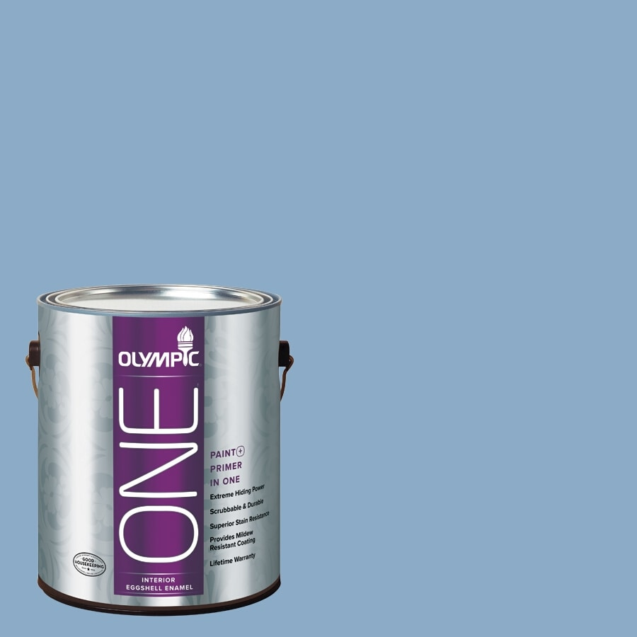 Olympic ONE Angel Eyes Eggshell Latex Interior Paint and Primer In One (Actual Net Contents: 124-fl oz)