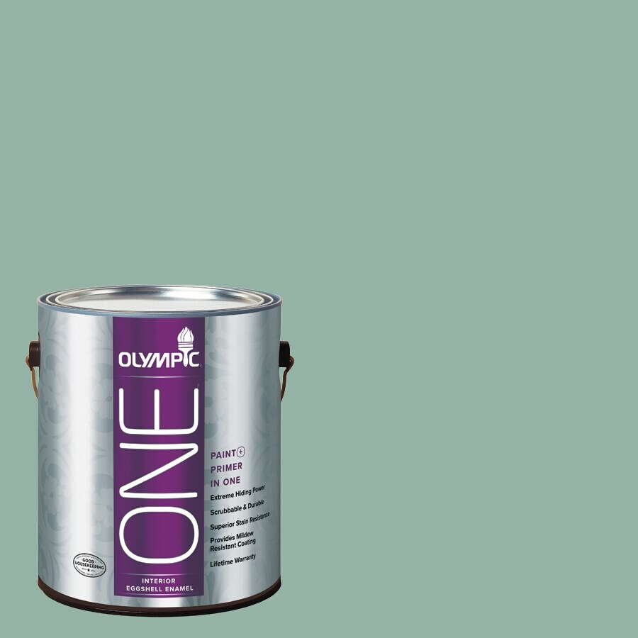 Olympic ONE Early Spring Eggshell Latex Interior Paint and Primer In One (Actual Net Contents: 116-fl oz)