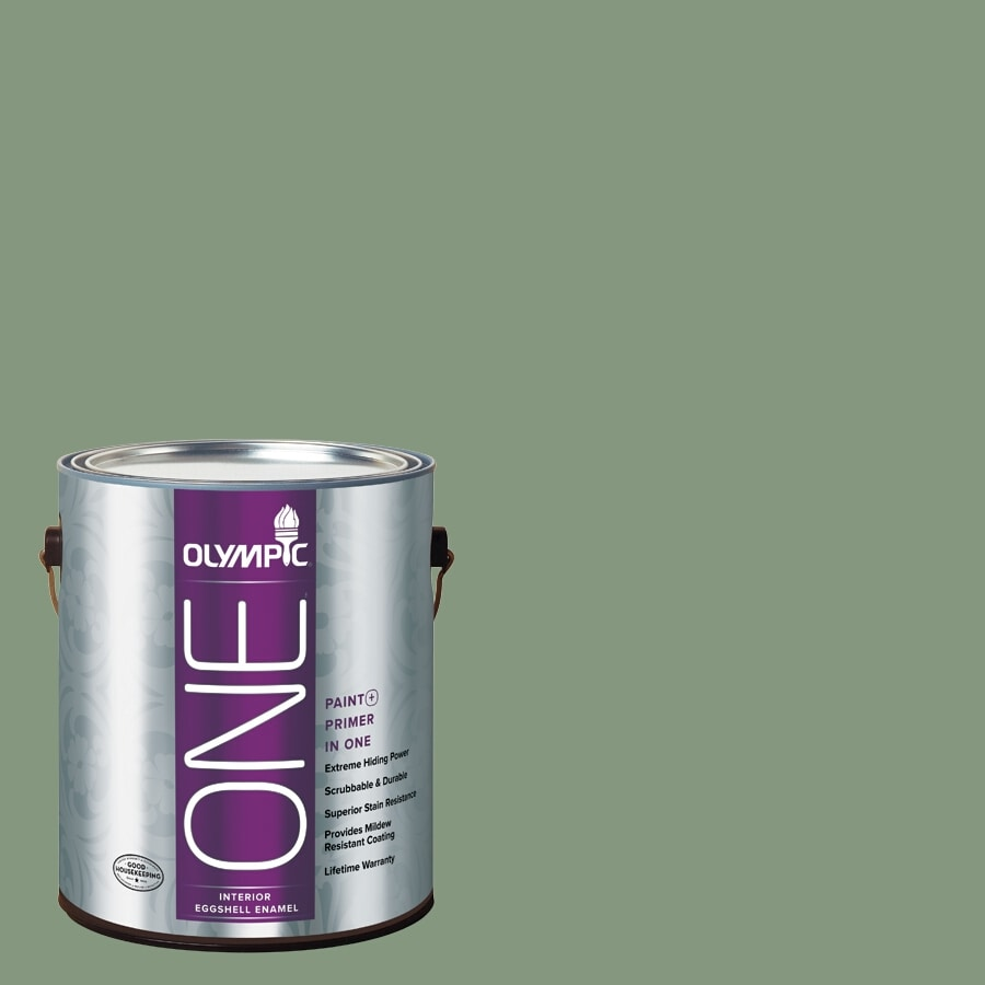 Olympic ONE Mesa Verde Eggshell Latex Interior Paint and Primer In One (Actual Net Contents: 116-fl oz)