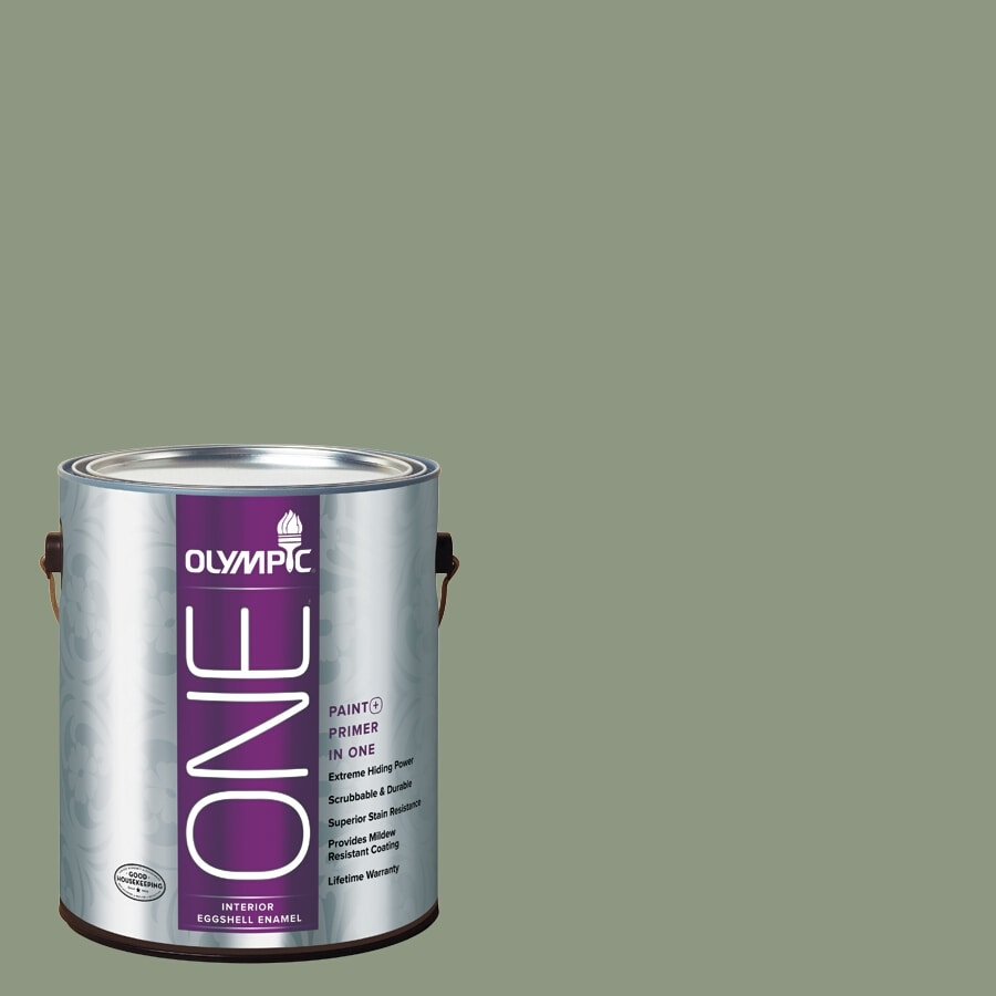 Olympic ONE Pacific Pine Eggshell Latex Interior Paint and Primer In One (Actual Net Contents: 116-fl oz)
