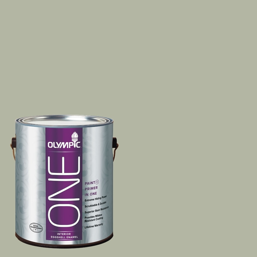 Olympic ONE Light Sage Eggshell Latex Interior Paint and Primer In One (Actual Net Contents: 124-fl oz)