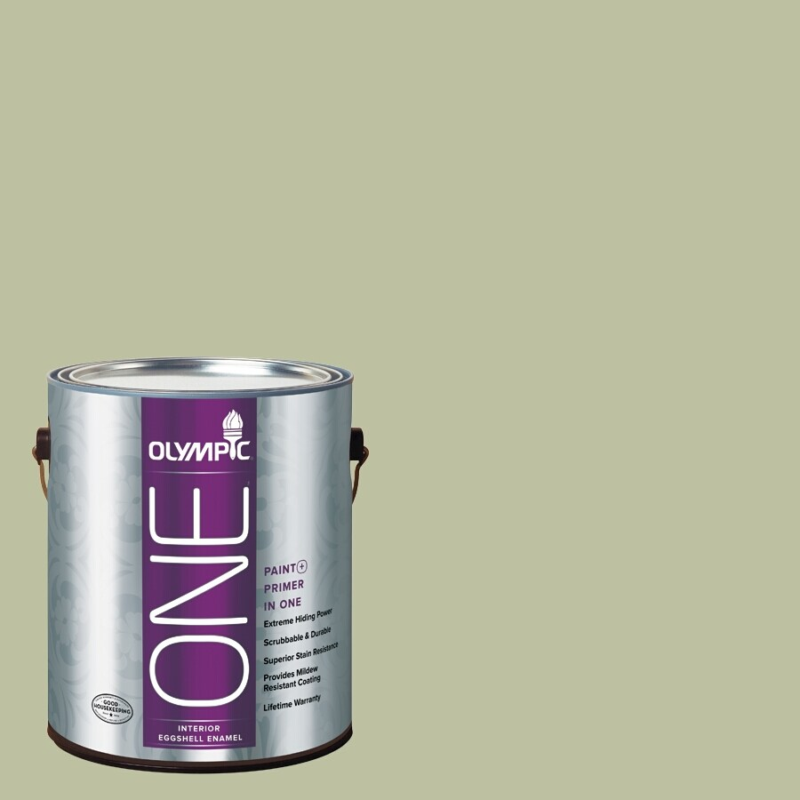 Olympic ONE Quaking Grass Eggshell Latex Interior Paint and Primer In One (Actual Net Contents: 124-fl oz)