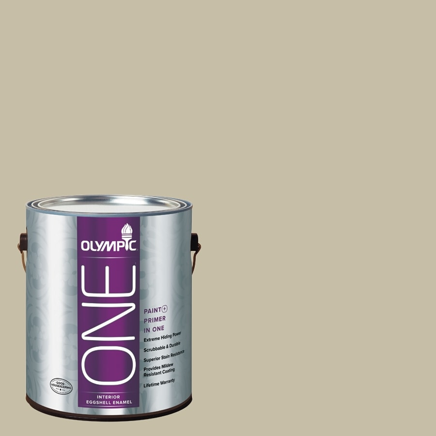 Olympic ONE Tabu Semi-Gloss Latex Interior Paint and Primer In One (Actual Net Contents: 124-fl oz)