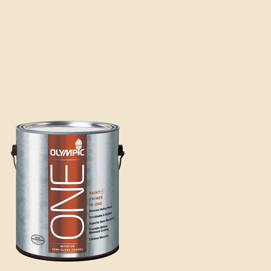 Olympic ONE Crescent Moon Eggshell Latex Interior Paint and Primer In One (Actual Net Contents: 124-fl oz)