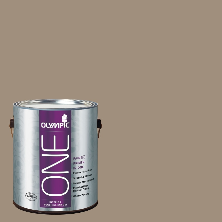 Olympic ONE Oyster Shell Eggshell Latex Interior Paint and Primer In One (Actual Net Contents: 116-fl oz)