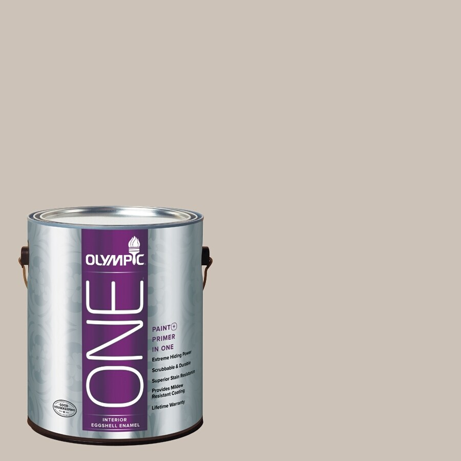 Olympic ONE Barefoot Beach Eggshell Latex Interior Paint and Primer In One (Actual Net Contents: 124-fl oz)