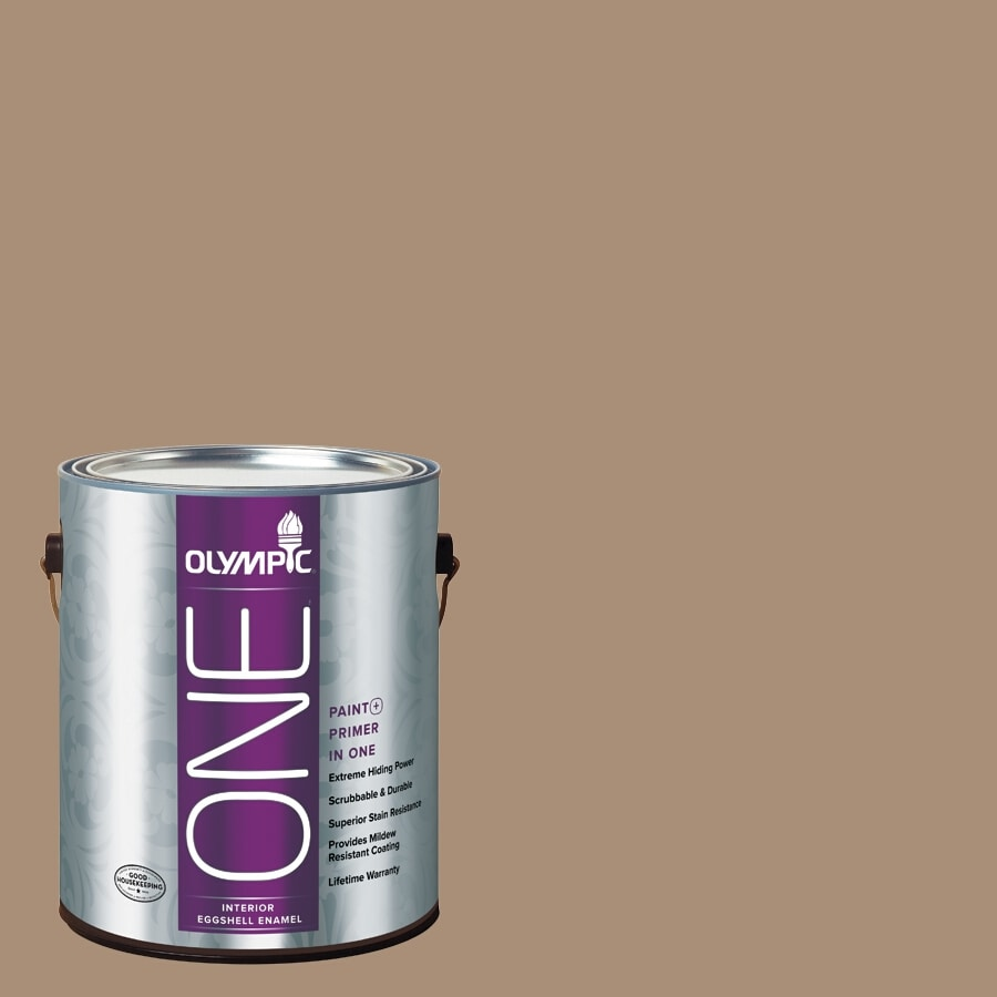 Olympic ONE Sauteed Mushroom Eggshell Latex Interior Paint and Primer In One (Actual Net Contents: 116-fl oz)