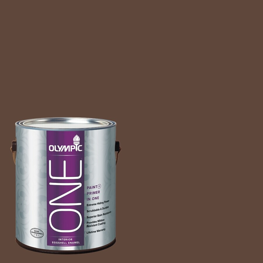 Olympic ONE Fudge Eggshell Latex Interior Paint and Primer In One (Actual Net Contents: 114-fl oz)
