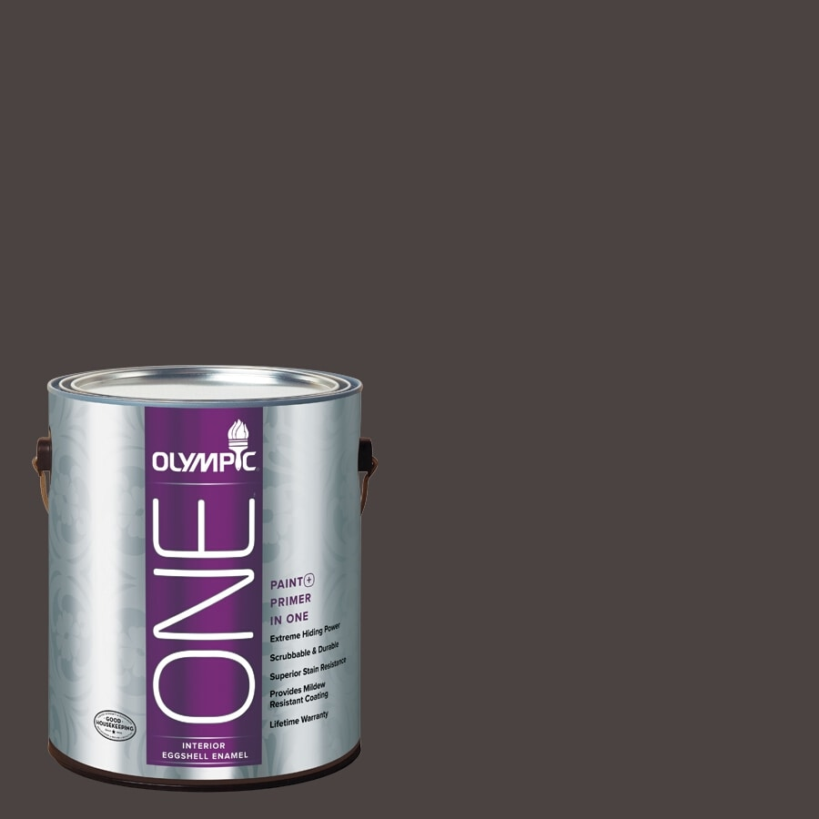 Olympic ONE Phantom Mist Eggshell Latex Interior Paint and Primer In One (Actual Net Contents: 114-fl oz)