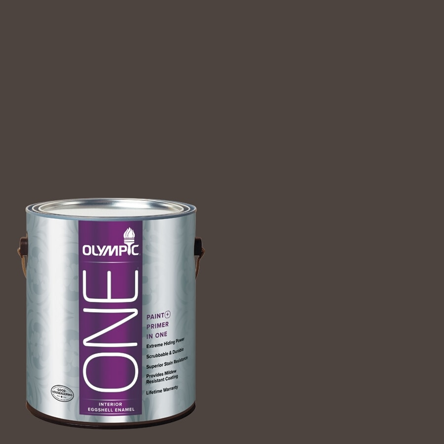 Olympic ONE Dark Granite Eggshell Latex Interior Paint and Primer In One (Actual Net Contents: 114-fl oz)