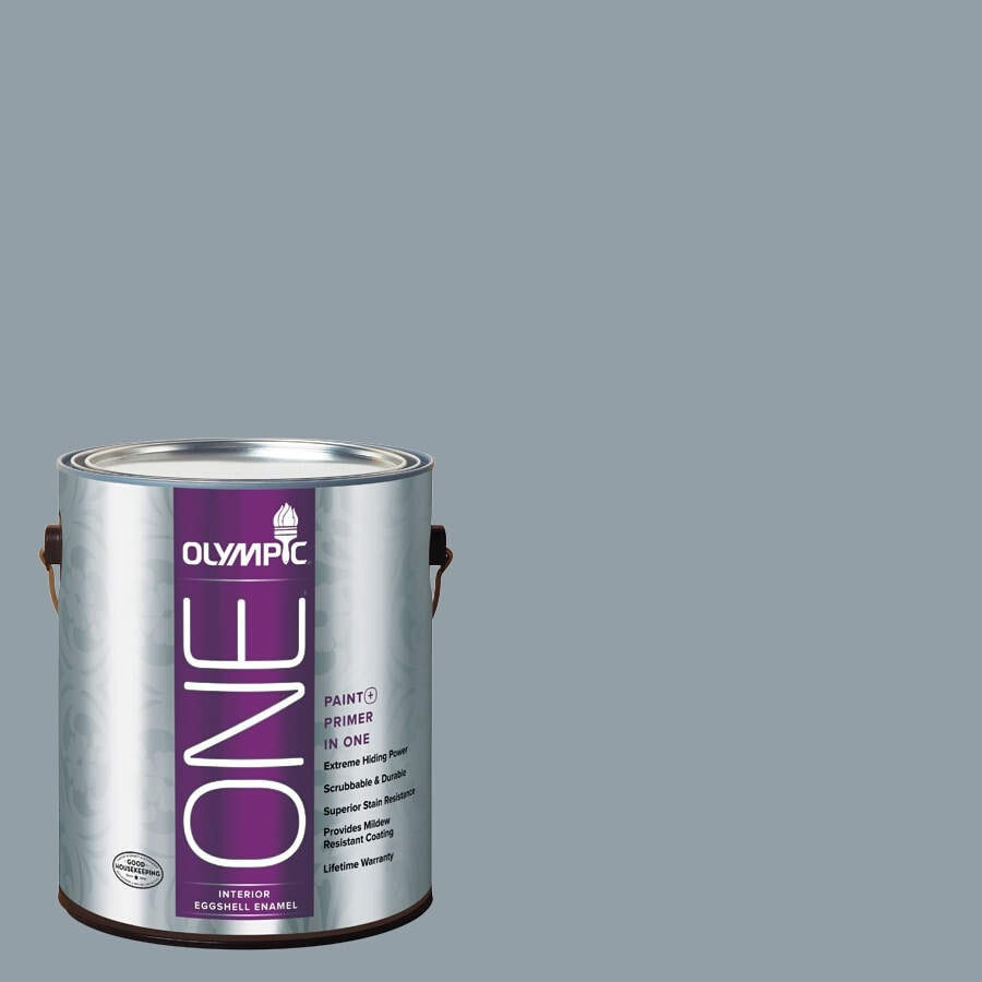 Olympic ONE Quicksilver Eggshell Latex Interior Paint and Primer In One (Actual Net Contents: 116-fl oz)