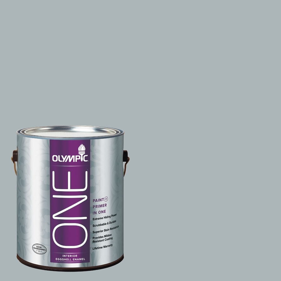 Olympic ONE Smoke Screen Eggshell Latex Interior Paint and Primer In One (Actual Net Contents: 124-fl oz)