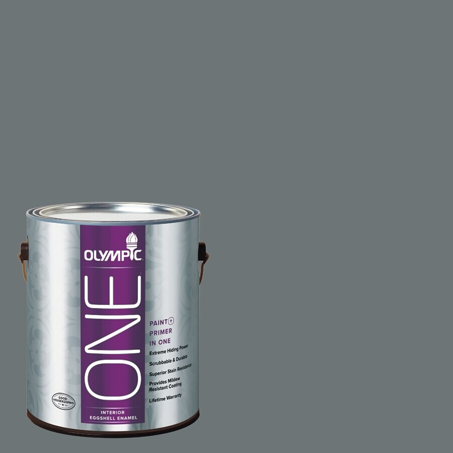 Olympic ONE Volcanic Ash Eggshell Latex Interior Paint and Primer In One (Actual Net Contents: 114-fl oz)