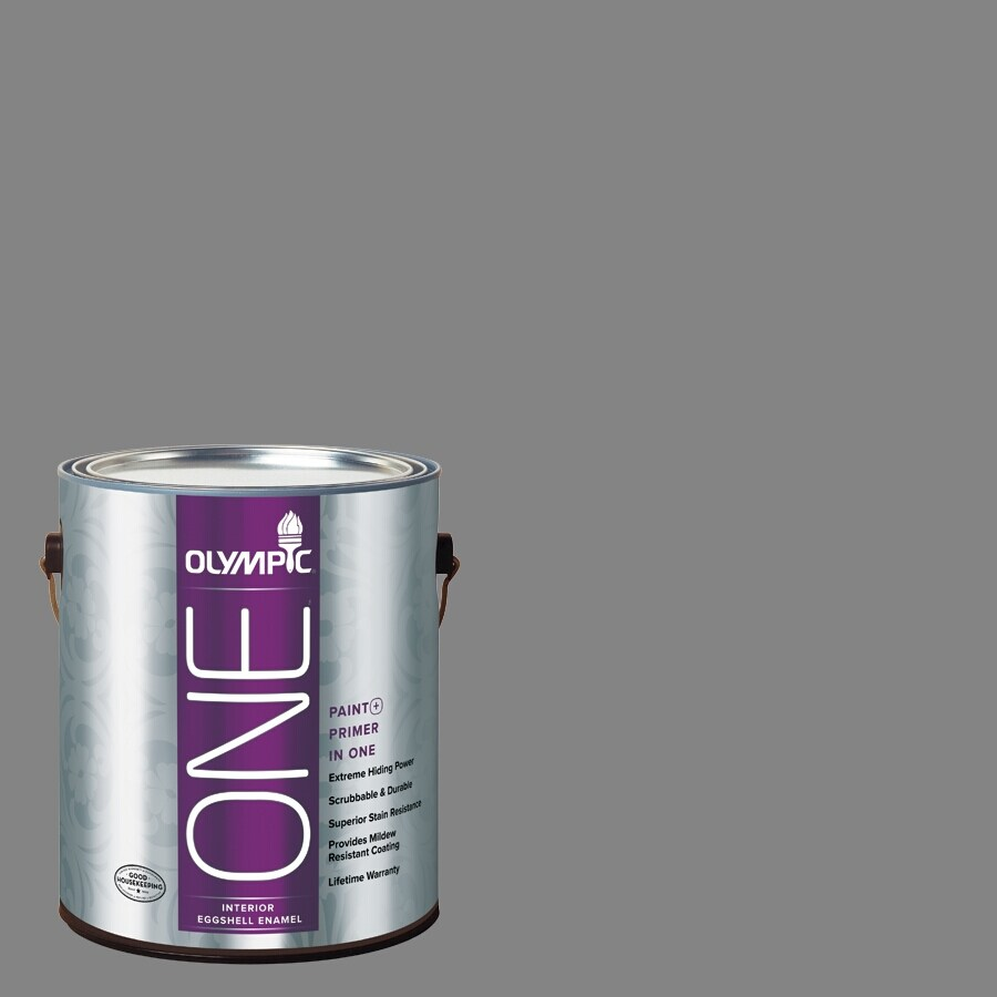 Olympic ONE Dover Gray Eggshell Latex Interior Paint and Primer In One (Actual Net Contents: 116-fl oz)