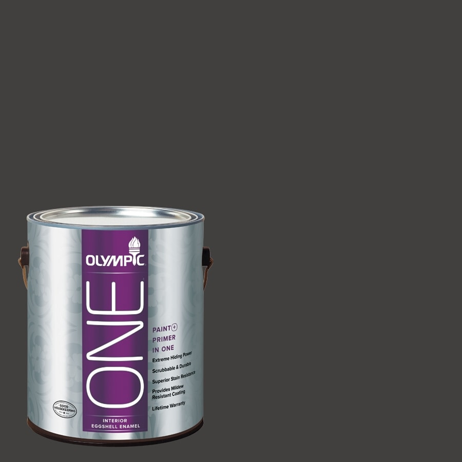 Olympic ONE Black Magic Eggshell Latex Interior Paint and Primer In One (Actual Net Contents: 114-fl oz)