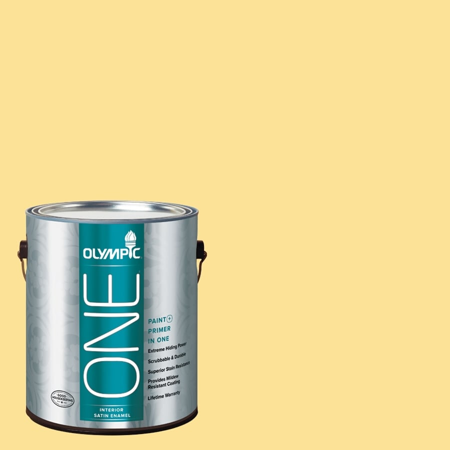 Olympic ONE Calabash Satin Latex Interior Paint and Primer In One (Actual Net Contents: 118-fl oz)