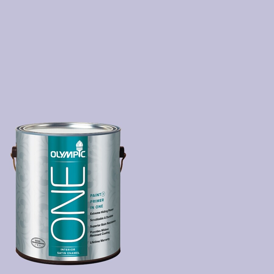 Olympic ONE Purplicious Satin Latex Interior Paint and Primer In One (Actual Net Contents: 124-fl oz)
