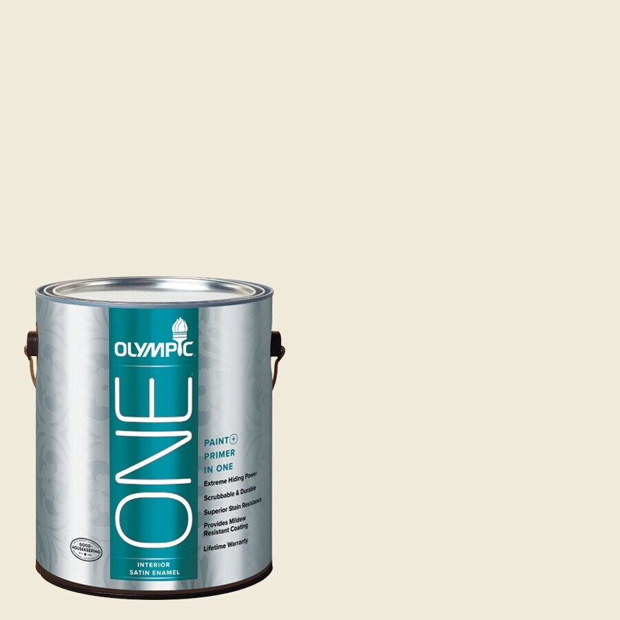 Olympic ONE Cake Batter Satin Latex Interior Paint and Primer In One (Actual Net Contents: 124-fl oz)