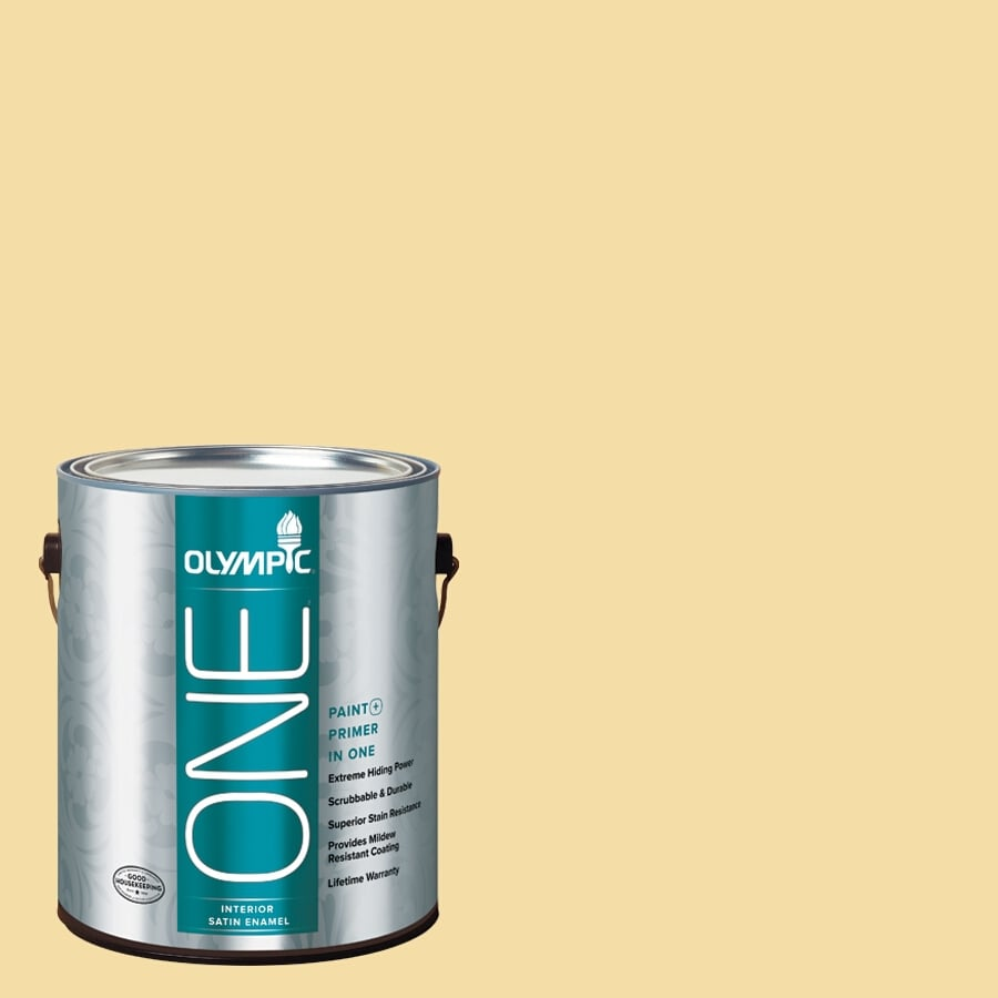 Olympic ONE Butterfly Bush Satin Latex Interior Paint and Primer In One (Actual Net Contents: 124-fl oz)